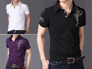 Pack of 3 Printed Polo Shirts Price in Pakistan