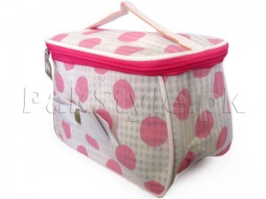 Polka Dots Travel Cosmetic Bag - White
