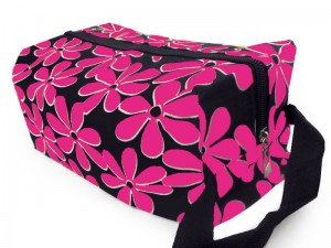 Flower Printed Cosmetics Storage Bag - Pink Price in Pakistan