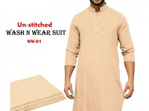 Wash N Wear Un-Stitched Men's Suit WW-01 Price in Pakistan