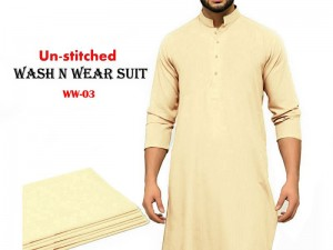 Wash N Wear Un-Stitched Men's Suit WW-03 Price in Pakistan