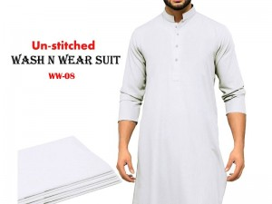 Wash N Wear Un-Stitched Men's Suit WW-08 Price in Pakistan