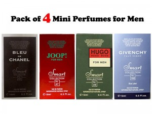 Pack of 4 Mini Perfumes for Men - 15ml Price in Pakistan