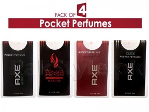 Pack of 4 AXE Pocket Perfumes for Men - 20ml Price in Pakistan