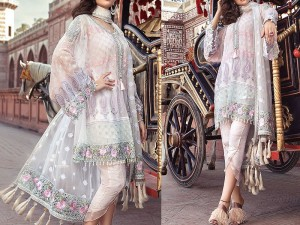 Embroidered Chiffon Dress 2018 Design with Chiffon Dupatta Price in Pakistan