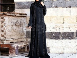 Fancy Nida Fabric Abaya With Scarf Price in Pakistan