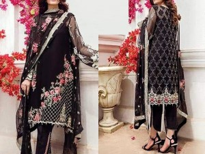 Designer Black Chiffon Dress 2018 Design Price in Pakistan
