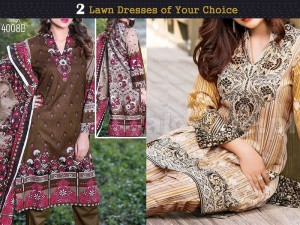 Pack of 2 Star Classic Lawn Suits of Your Choice Price in Pakistan