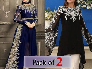 Pack of 2 Embroidered Chiffon Dresses Price in Pakistan