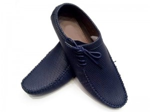Lace-up Men's Formal Shoes - Blue Price in Pakistan