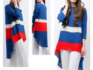 1dbe9895db57 Multicolor Boski Linen Kurti For Girls Price in Pakistan