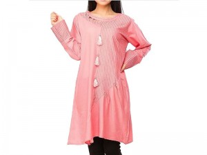 Stylish Pink Color Cotton Kurti Price in Pakistan