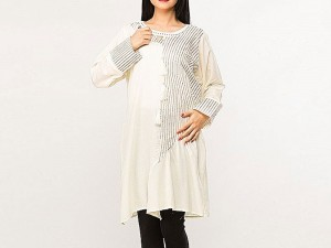 Stylish White Color Cotton Kurti Price in Pakistan