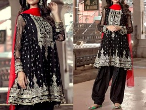 Embroidered Chiffon Black Dress Price in Pakistan
