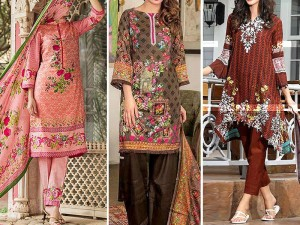 Pack of 3 Printed Lawn Suits Price in Pakistan