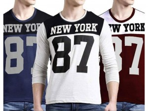 Pack of 3 New York Printed T-Shirts Price in Pakistan
