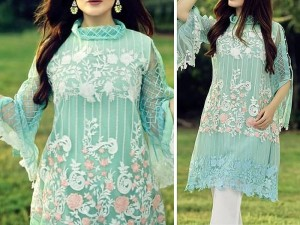 Embroidered Net Kurti with Inner Price in Pakistan