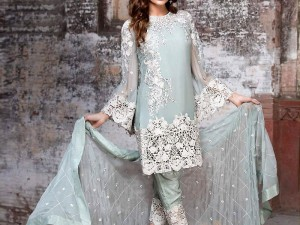 Elegant Embroidered Chiffon Party Dress Price in Pakistan