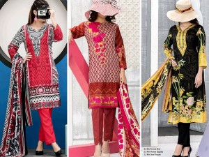 Pack of 3 VS Printed Lawn Suits Price in Pakistan
