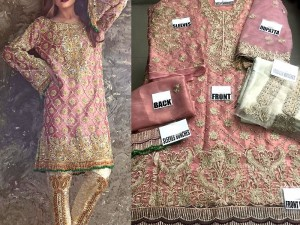 Heavy Embroidered Masoori Dress with Net Dupatta Price in Pakistan