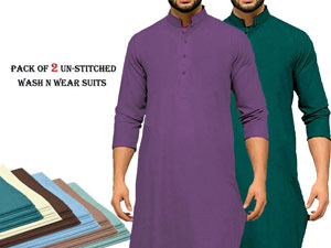 Pack of 2 Unstitched Men's Suits Price in Pakistan