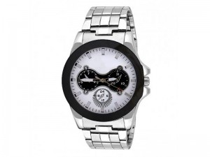 Men's White Dial Silver Chain Watch Price in Pakistan