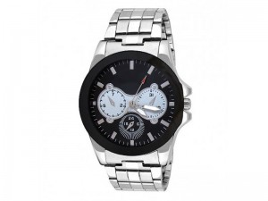 Men's Black Dial Silver Chain Watch Price in Pakistan