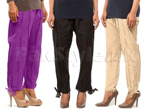 Pack of 3 Bow Trousers for Women's Price in Pakistan