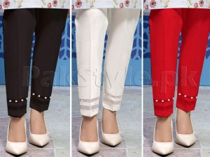 Pack of 3 Pearls Bottom Cigarette Pants Price in Pakistan