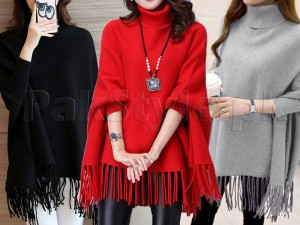 Pack of 3 Poncho Style Fleece Tops Price in Pakistan