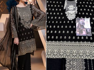 Embroidered Black Linen Suit Price in Pakistan