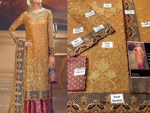 Heavy Embroidered Chiffon Bridal Dress Price in Pakistan