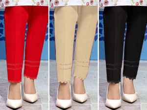 Pack of 3 Cotton Cigarette Pants Price in Pakistan