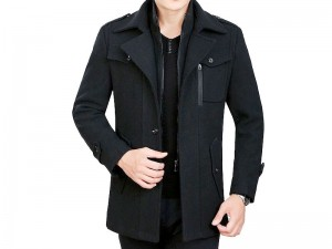 Men's Black Fleece Winter Coat Price in Pakistan
