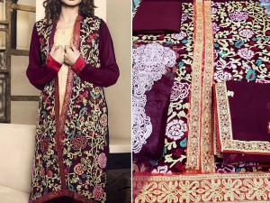 Heavy Embroidered Chiffon Dress with Chiffon Dupatta Price in Pakistan