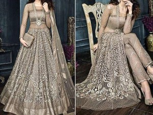 Indian Heavy Embroidered Net Bridal Maxi Price in Pakistan