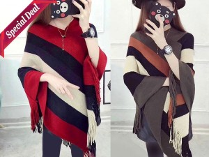 Pack of 2 Women's Winter Wool Cape Shawls Price in Pakistan
