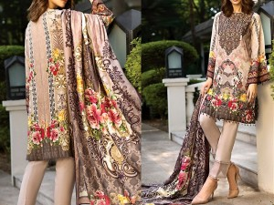 Embroidered Lawn Collection 2019 with Lawn Dupatta Price in Pakistan