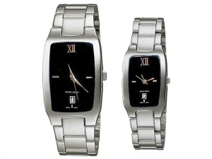 Elegant Couple Watches - Black Dial Price in Pakistan