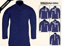 Un-Stitched Printed Mens Kurta - Navy Blue Price in Pakistan