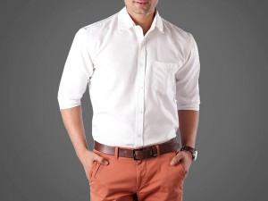 Off-White Men's Regular Fit Plain Shirt Price in Pakistan