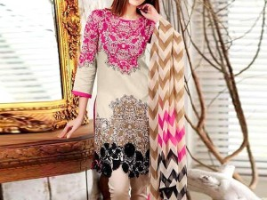 300f6605e6 Sale. Heavy Embroidered Lawn Dress with Chiffon Dupatta Price in Pakistan
