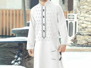 Un-Stitched Embroidered Mens Shalwar Kameez Price in Pakistan