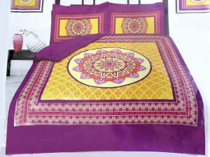 Panel Design Egyptian Cotton Bed Sheet with 2 Pillow Covers