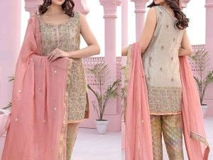 Heavy Embroidered Masoori Dress with Chiffon Dupatta