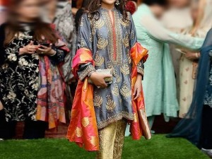 Embroidered Masoori Dress with Jamawar Trouser Price in Pakistan