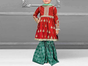 Kids 2-Pcs Embroidered Lawn Suit Price in Pakistan