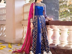 Heavy Embroidered Chiffon Bridal Maxi Dress Price in Pakistan