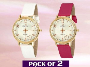 Pack of 2 Fashion Watches for Girls Price in Pakistan
