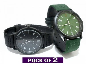 Pack of 2 Men's Fashion Watches Price in Pakistan
